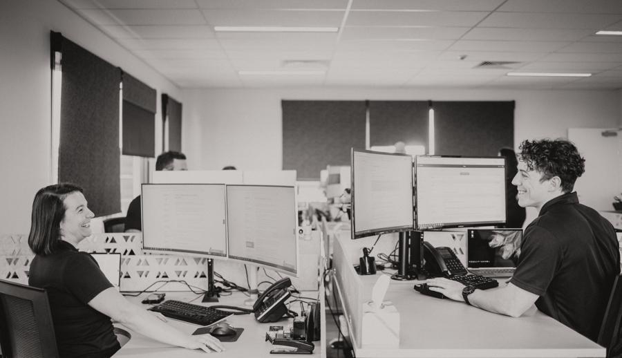 Wealhvisory employees in the office.
